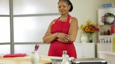 üzlet : A lovely confident African American woman small business owner proud of what she has accomplished.