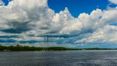 árnyék : Ottawa River Clouds & Ferries Stock mozgókép