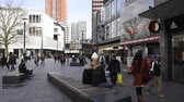 butik : Rotterdam, The Netherlands - March 10, 2017: Shopping people in the city of Rotterdam with shops, travelers, bank and offices in the Netherlands.