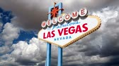 знак : Las Vegas welcome sign time lapse.