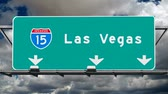 tabela : Las Vegas Interstate 15 Fwy Sign Time Lapse Stok Video