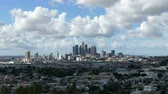 clareira : Downtown Los Angeles cityscape time lapse with clearing after storm skies.