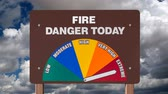 предупреждение : Fire Danger Sign with Time Lapse Clouds