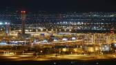 aviação : Las Vegas Nevada USA  May 11 2015:  Night traffic time lapse of busy McCarran airport in Las Vegas. Vídeos