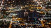 burbank : Night Airport Traffic Time Lapse in Burbank California with Zoom Out Stock Footage