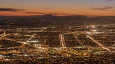 burbank : Burbank and Los Angeles dusk city view time lapse with zoom in.