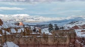 clareira : Bryce Canyon National Park clearing winter storm time lapse. Stock Footage