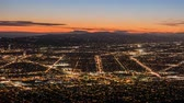 burbank : Burbank and Los Angeles dusk city view time lapse.