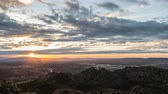stráň : Sunrise time lapse view towards Porter Ranch and the San Fernando Valley in Los Angeles California.