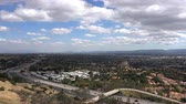 view point : Los Angeles afternoon clouds time lapse view towards Stoney Point in the northwest San Fernando Valley.
