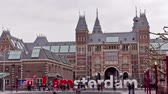 The words IAMSTERDAM. Amsterdam, The Netherlands. Time Lapse.