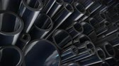 tubular : Heap of shiny metal steel pipes