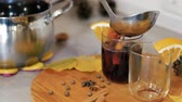 цитрон : Cooking traditional drink for Christmas. Mulled wine preparations. Close up