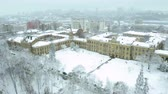 studenci : Aerial footage orbiting Igor Sikorsky Kyiv Polytechnic Institute Wideo