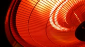змеевик : Infrared heater lamp. Close up Стоковые видеозаписи