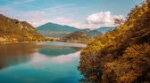 picos : Beautiful timelapse to the lake among the orange colors of autumn