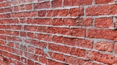 parede de tijolos : Brick wall ruined and uncovered with concrete Stock Footage