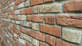 긁힌 : Brick wall ruined and uncovered with concrete 무비클립