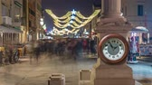 kerst huis : Timelapse of people walking in ancient city