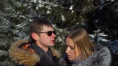 датировка : Man and Woman Talking in Winter Park
