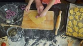 rolling pin : Preparing Easter Cookies in Kitchen