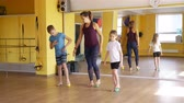 пилатес : Children Doing Exercises with Massage Balls