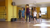 пилатес : Physical Therapist Trainer Working with Children in a Rehabilitation Centre. Rehabilitation Restoring after Injury Concept