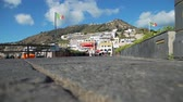 napoles : View of Sant Angelo Village on Ischia Island, Italy. Marvellous Panorama with the Colored Houses Joined to the Hill on the Harbor. Concept of Holidays, Vacations and World Travel Concept Archivo de Video