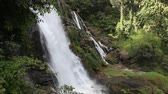 doi inthanon : Big waterfall in North of Thailand , Wachiratan Waterfall Chiangmai Thailand