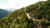 lucht : Car driving on a mountain road, Mestia, Svaneti