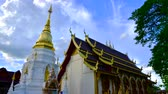 lanna : 4K time lapse video of Mae San Pa Daet temple in the Lamphun city, Thailand.
