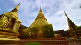 lanna : 4K time lapse video of Phra Sing Waramahavihan temple, Thailand.