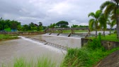 переполнение : 4K video of small dam in Wang Nuea district, Thailand.