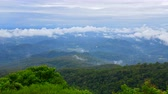 4K time lapse video of mountain with clouds flowing at Chiang Mai province, Thailand.