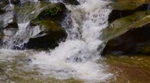 Slow motion video of water flowing in Mae Sa Noi waterfall, Thailand. Stock Footage