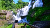 Slow motion video of Mae Klang waterfall, Thailand. Stock Footage