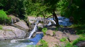 inthanon : 4K video of water flowing in Mae Klang waterfall, Thailand. Stock Footage
