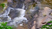 Slow motion video of water flowing in Mae Klang waterfall, Thailand. Stock Footage