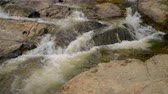 inthanon : 4K video of water flowing in Mae Klang waterfall, Thailand Stock Footage