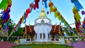 4K time lapse video of pagoda in Wat Pa Dara Phirom temple, Thailand.