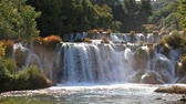 waterfall on Krka river in Croatia
