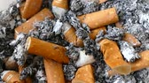 nikotin : There are dozens of cigarette butts in the ashtray,