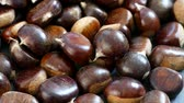 chestnut cooking entertainment, boiled chestnut, chestnut cooking, Filmati Stock
