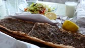 meat and bread, turkey specific meat and bread, meat pide 動画素材