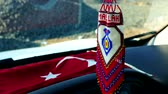 türk : turkish crafts, knitted automobile decor ornament with pearl