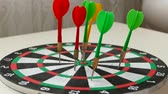 flechette : dart sport and dart arrows on dart board,