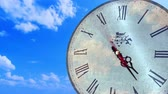 contagem regressiva : Abstract Spinning Clock Time-lapse Stock Footage