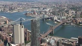 neuf : Pont de Brooklyn et Manhattan Bridge- New York City