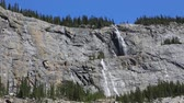 Waterfalls of Weeping Wall, Jasper NP, Canada Stock Footage