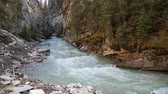 Johnston Canyon, Banff NP, Canada Stock Footage